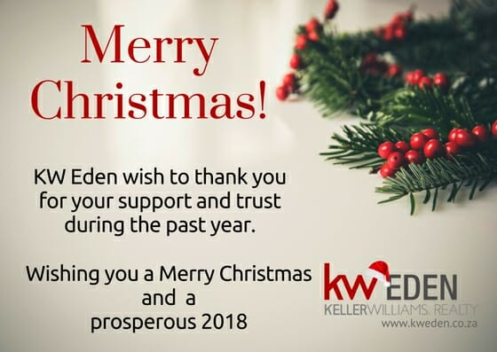 Christmas card Keller Williams Eden