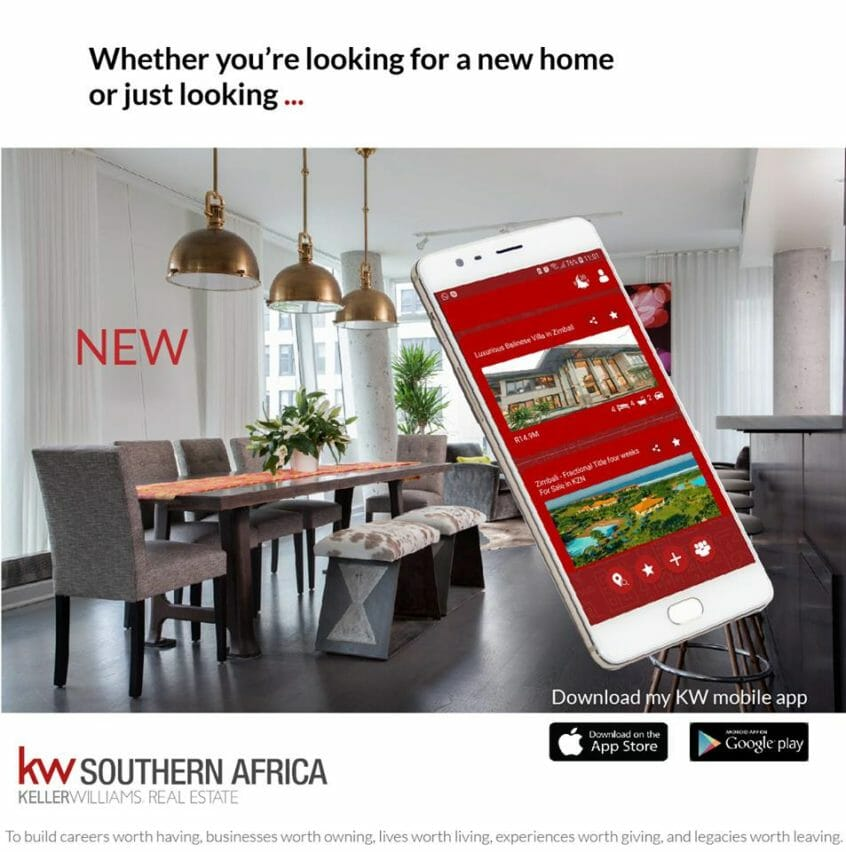 Image of Keller Williams Southern Africa's mobile app