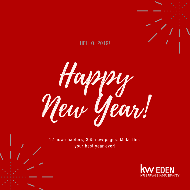 Image of Happy New Year from the Keller Williams Eden Real Estate team in George in the Garden Route.