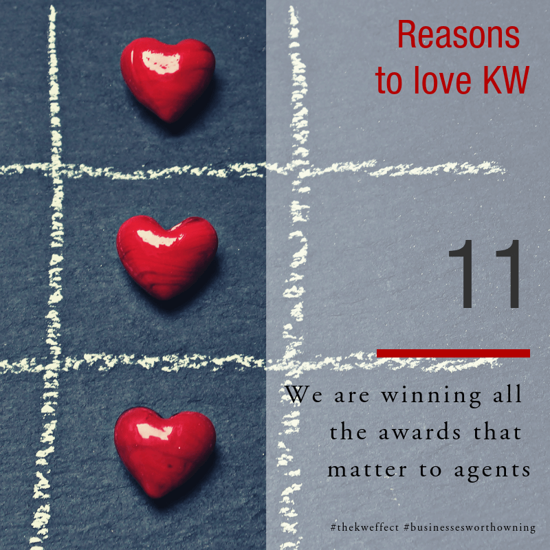 Image of Reasons 11 to lve KW Eden - Keller Williams Awards and recognition